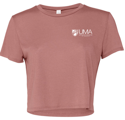 Bella + Canvas Ladies' Flowy Cropped T-Shirt - Mauve